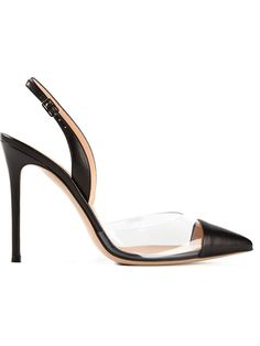 Shop Gianvito Rossi 'Plexi Slingback' pumps in Biondini Paris from the world's best independent boutiques at farfetch.com. Over 1000 designers from 300 boutiques in one website.