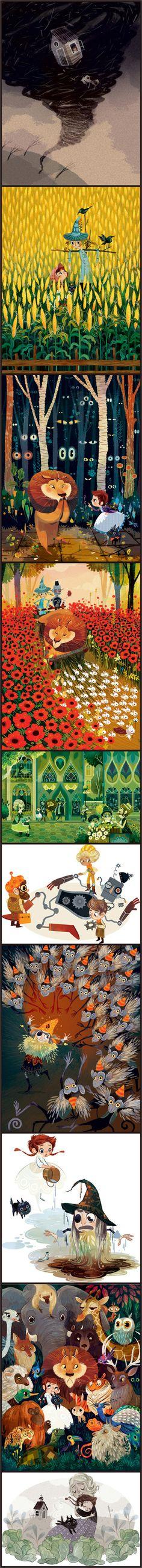 The Wonderful Wizard of Oz, illustrated by Lorena Alvarez, 2014