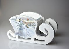 Christmas Sale 15% off Wooden Sled Christmas Sleigh by YWart