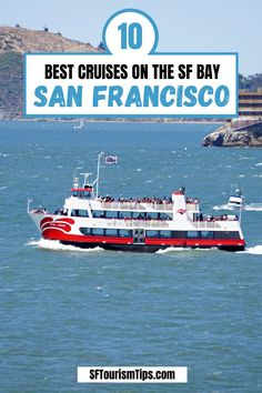 Discover a list of my 10 favorite bay cruises. They include everything from the popular 60-minute cruise to one that doubles as a wine tasting experience. #sanfranciscocruises #sanfranciscobay #sanfranciscowateractivities Best Cruise, Cruise Vacation, Vacations, San Francisco Attractions, San Francisco Neighborhoods, California Travel Guide, Visit California, Us Destinations, San Francisco Bay