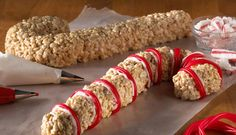 Colossal Candy Canes Recipe - Kellogg's® Rice Krispies®