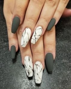 Stunning Ideas for Marble Nails 2018 - hairstyles 19
