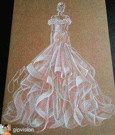 Best Ideas For Fashion Design Sketches Back Wedding Dresses Fashion Design Portfolio, Fashion Design Drawings, Fashion Sketches, Fashion Painting, Fashion Art, Marchesa Fashion, Fashion Illustration Dresses, Fashion Illustrations, Illustration Mode