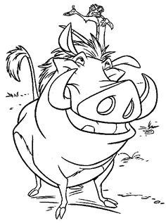 Lion King Disney Coloring Page
