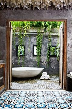 6 Resolute Tips AND Tricks: Natural Home Decor Boho Chic Rugs natural home decor diy house smells.Natural Home Decor Diy Woods natural home decor diy mason jars.Natural Home Decor Feng Shui House Plants. Outdoor Baths, Outdoor Bathrooms, Outdoor Rooms, Outdoor Tub, Outdoor Showers, Luxury Bathrooms, Dream Bathrooms, White Bathrooms, Master Bathrooms