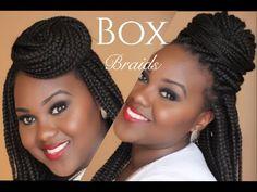 6 super Easy Styles for Box Braids [Video] - http://community.blackhairinformation.com/video-gallery/braids-and-twists-videos/6-super-easy-styles-box-braids-video/