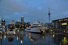 New Zealand - Auckland Harbour and SkyTower