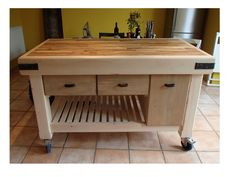Moveable Kitchen Islands  for Small Kitchen Space : Butchers Block Movable Kitchen