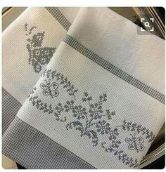 (No pattern, no link, ideas only). Cross Stitch Heart, Cross Stitch Borders, Cross Stitch Flowers, Cross Stitching, Cross Stitch Embroidery, Hand Embroidery, Cross Stitch Patterns, Needle And Thread, Blackwork