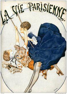 Original Comic Strip, Animation and Illustration Art: Chéri Hérouard, aquarelle érotique