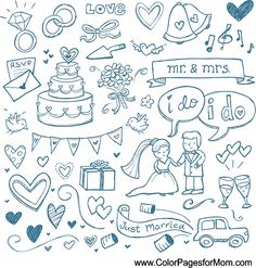 Wedding Coloring Page 27                                                                                                                                                                                 More