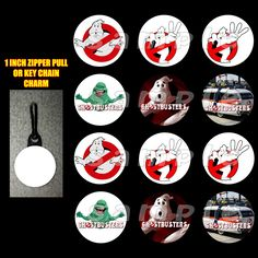 #Ghostbusters Set of 12 #Zipper #Pulls Make Great #Party #Favors #handmade #thecraftstar $12.99