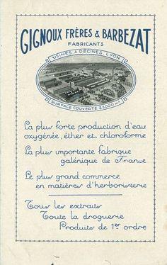 Gignoux Frères & Barbezat. 1930s. La Saga des marques - Pharmacie Rullier.