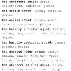 Zodiac squads