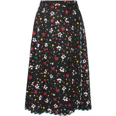 Marc Jacobs Floral-print silk-jacquard wrap skirt (3.450 DKK) ❤ liked on Polyvore featuring skirts, bottoms, silk skirt, flower print skirt, multi colored skirt, marc jacobs and marc jacobs skirt