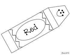 color words crayon templates miss kindergarten love teacherspayteacherscom - Crayon Coloring Pages