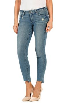 Paige Denim 'Skyline' Cutoff Ankle Peg Skinny Jeans (Wiley)