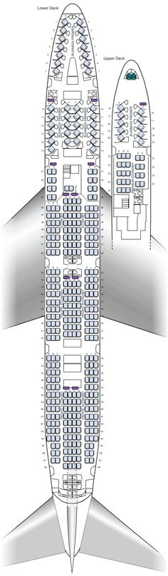 Air New Zealand 747-400 seat maps
