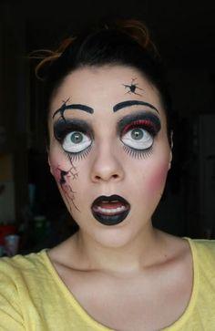 DIY Halloween Makeup : Halloween Makeup Creepy Broken Doll by p.paula