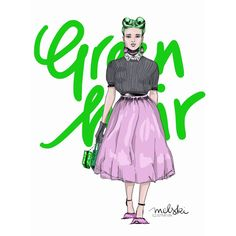 Photoshop Illustration  Fashion #greenhair #pinkskirt #fashionillustration #modeillustration Illustration Fashion, Photoshop, Lettering, Disney Princess, Disney Characters, Drawing Letters, Disney Princesses, Disney Princes, Brush Lettering