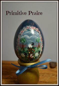 Primitive wooden  hand painted egg shelf by PrimitivePrairie, $11.95