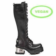 m236-vc1 New Rock Vegan Knee High Boots