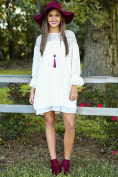 Stop This Train Dress-Cream - New Today   The Red Dress Boutique