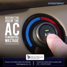 Save fuel by limiting the use of air conditioner. #ForgetMeNot