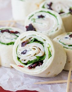 Ok, I'll admit it - I'm having a thing for easy lunches right now. These Turkey Cranberry Pinwheels are creamy, sweet and the perfect finger food for any food-inspired event! (like lunch, and football) My kids are loving all these pinwheels, but you know what else? We totally ate loads of them this past weekend while we were watching college football at my parent's cabin! Everyone loved these ones so much. It doesn't get any easier than this 5 ingredient pinwheel! Chive and On...