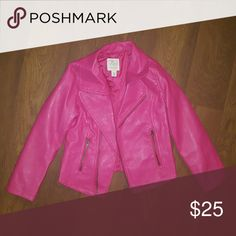 Pink Leather Jacket Like new Pink Leather jacket Children's Place Jackets & Coats