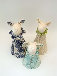 | Handmade ceramic sheep, chickens, brooches and other creations...