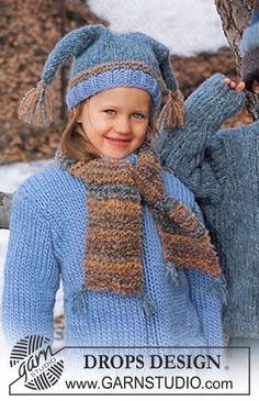 Jumper, hat and scarf in Eskimo and Highlander