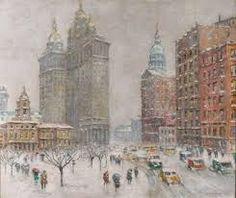 Image result for impressionist painting winter