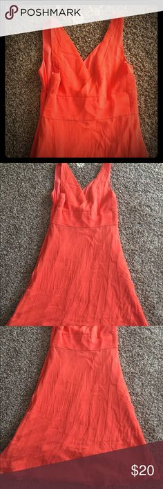 Sleeveless formal party dress Worn once as a bridesmaid dress. Can be formal or a nice summer dress. Coral with a silky material. J. Crew Dresses Midi
