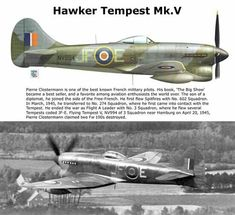 Hawker Tempest Mk.V ~ BFD Ww2 Aircraft, Fighter Aircraft, Military Aircraft, Fighter Jets, Hawker Tempest, Hawker Typhoon, Lancaster Bomber, Hawker Hurricane, The Spitfires