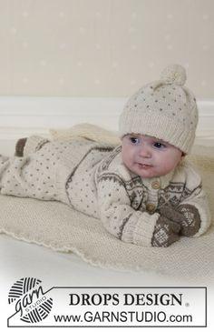 DROPS Nordisk kofta, byxa, mössa med garnbollar, vantar, sockor och filt i Alpaca. ~ DROPS Design