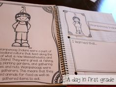 I love this! A student reader about Thanksgiving that has interactive notebook pages to go along with it!