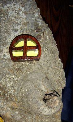 window goes with a Fairy Door, Gnome Door, Hobbit Door, Elf Door, Troll Door.. 7.95, via Etsy.