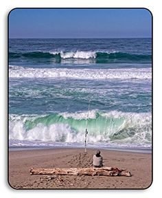 Fisherman Surf Fishing, Point Reyes National Seashore Park, Marin County, California, USA - Original Photography Metal Art Print Gift with Bamboo Stand for Office or Home Decor and Decoration Poster Prints, Art Print, Surf Fishing, Marin County, Death Valley, California Usa, Metal Art, Marines, Monument Valley