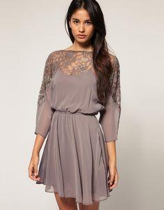 ASOS | ASOS Dress with Lace Top at ASOS