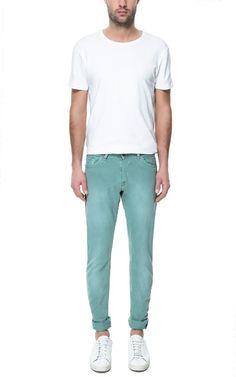 5 POCKET BULL DENIM TROUSERS - Slim Fit - Jeans - Man - ZARA Romania
