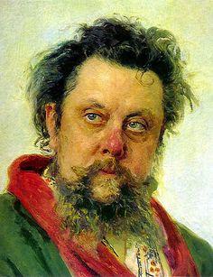 Portrait of the composer Modest Mussosrgsky, (Pictures at an Exhibition) Ilya Repin, Russian Painting, Russian Art, Modest Mussorgsky, Pictures At An Exhibition, Music Composers, National Portrait Gallery, Portrait Art, Art World