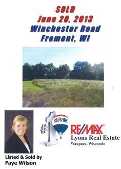 Sold on Winchester Road, Fremont, WI by Faye Wilson, RE/MAX Lyons Real Estate, Waupaca, WI