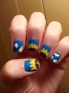 Finally it is summer and you can see bright and lovely colours all around. It will be fun to just paint up your nails with something like sunflower nail art. Is