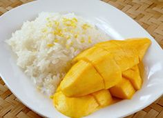 Mango sticky rice, Mango and Rice on Pinterest