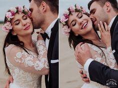 #bride #groom #weddingsession #floral #wreath #sesjaslubna #zdjeciaslubne