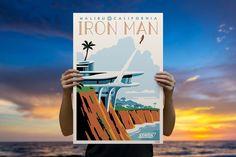 Malibu Tony Giclee by ACME Archives | Sideshow Fine Art Prints Iron Man Stark, Steve Thomas, Stark Industries, Malibu California, Sideshow Collectibles, Archive, Fine Art Prints, Marvel, Artwork