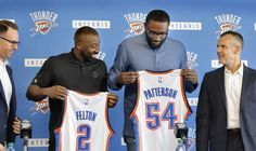 The Thunder formally introduced free-agent acquisitions Raymond Felton and Patrick Patterson...