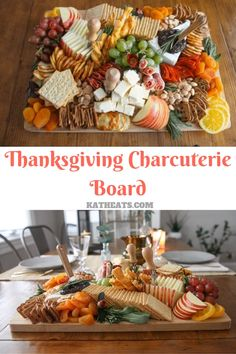 This Thanksgiving Charcuterie Board howto has everything you need to create a professional cheese board in your home for just 60 Charcuterie Recipes, Charcuterie And Cheese Board, Charcuterie Platter, Cheese Boards, Cheese Board Display, Thanksgiving Appetizers, Thanksgiving Recipes, Fall Recipes, Holiday Recipes