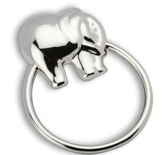 Krysaliis Elephant Sterling Silver Teether Ring Rattle